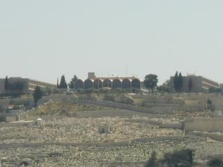 The Mount of Olives. At the summit is the 7 Arches Hotel, where the PLO held its first Palestinian National Council conference in 1964.
